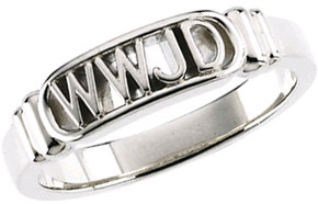 What Would Jesus Do Ring in Sterling Silver