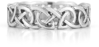 Sterling Silver Cut Out Celtic Knot Ring