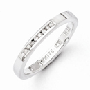 White Ice Diamond Band in Sterling Silver