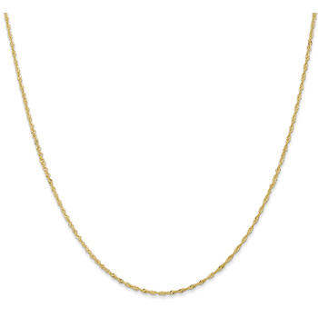 1.1mm 14K Gold Singapore Chain