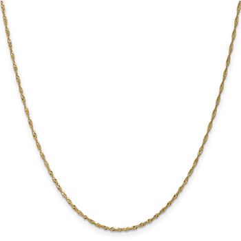 1.4mm Singapore Chain Necklace, 14K Gold