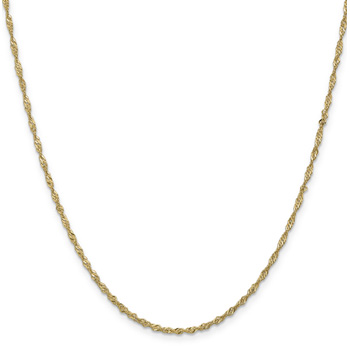 1.7mm 14K Gold Singapore Chain Necklace