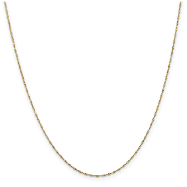 1mm 14K Gold Singapore Chain Necklace