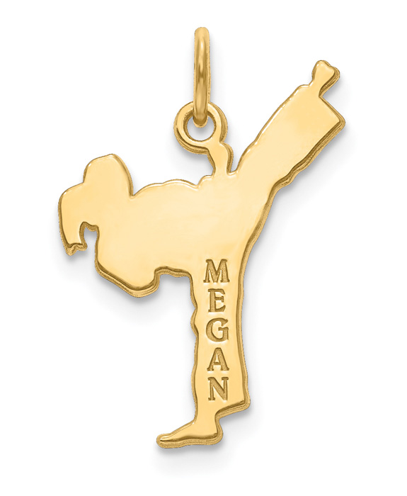 Personalized 14K Gold Karate Pendant with Name