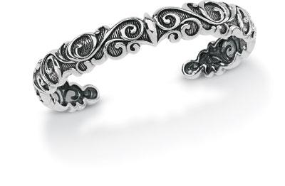 Starhaven Sterling Silver Small Filigree Cuff Bracelet