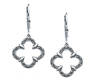 Starhaven Sterling Silver Clover Earrings