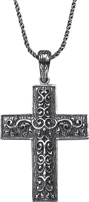 Starhaven Sterling Silver Signature Cross Pendant