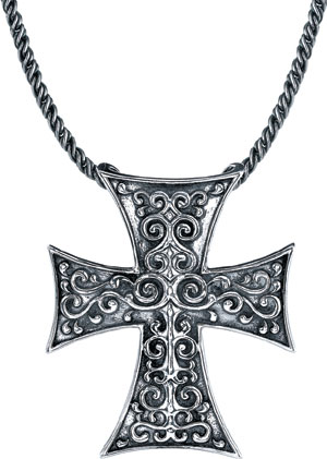 Starhaven Sterling Silver Medium Gothic Cross Pendant