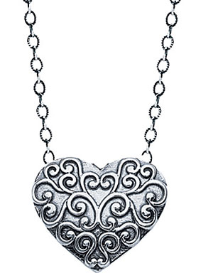 Buy Starhaven Sterling Silver Filigree Heart Pendant