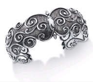 Starhaven Sterling Silver Medium Filigree Cuff Bracelet