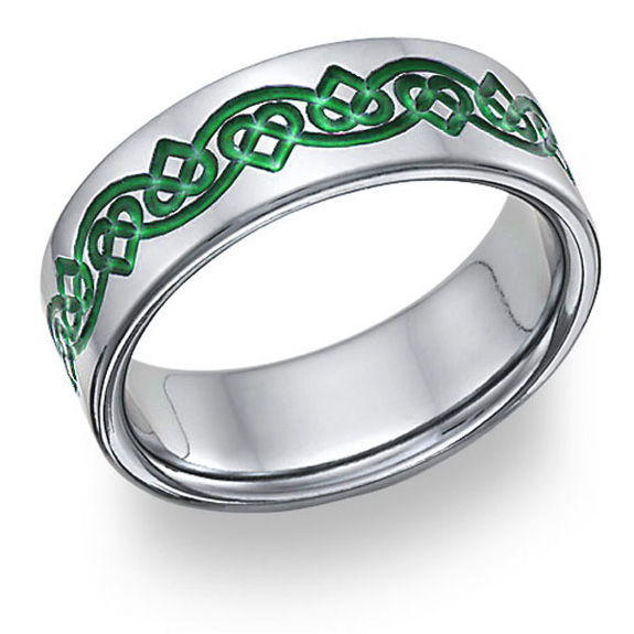 Irish Celtic Heart Love Knot Wedding Band