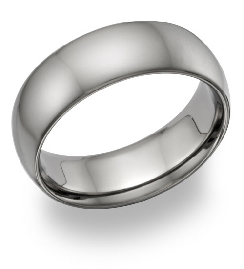 plain titanium wedding band ring made in the usa