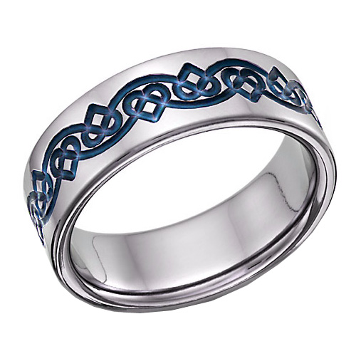 Titanium Celtic Heart Love Knot Wedding Band