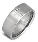 Titanium Cross Wedding Band Ring