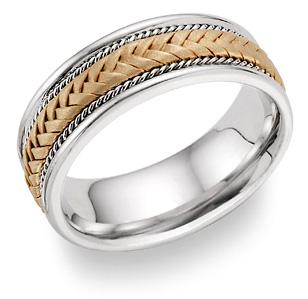 Titanium and 14K Gold Woven Wedding Band