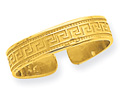 14K Gold Greek Key Toe Ring