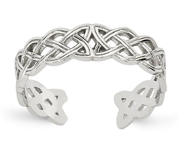 14K White Gold Celtic Toe Ring