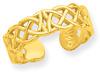 Celtic Toe Ring, 14K Gold