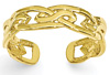 Celtic Weave Toe Ring, 14K Gold