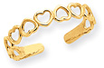 Cut-Out Heart Toe Ring, 14K Gold