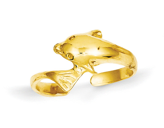 Dolphin Wrap Toe Ring, 14K Gold