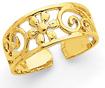 Floral Toe Ring, 14K Gold