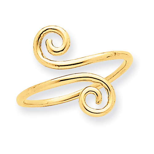 Swirl Toe Ring, 14K Gold