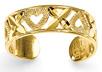 X O Heart Toe Ring, 14K Gold