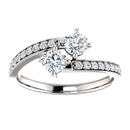 Cubic Zirconia and Diamond 2 Stone