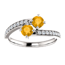 Citrine and CZ