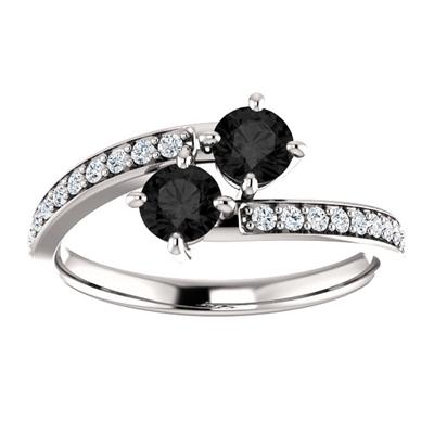 0.50 Carat Black Diamond 2 Stone