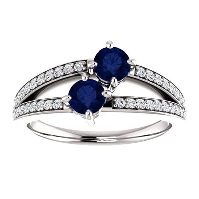 0.50 Carat Sapphire and Diamond