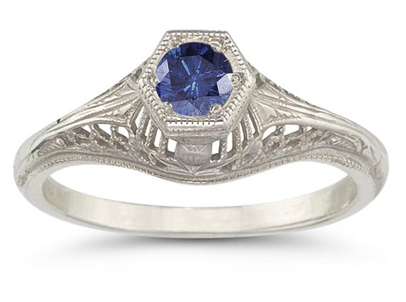 Vintage Art Deco Sapphire Ring