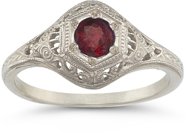 Enchanted Garnet Ring in .925 Sterling Silver