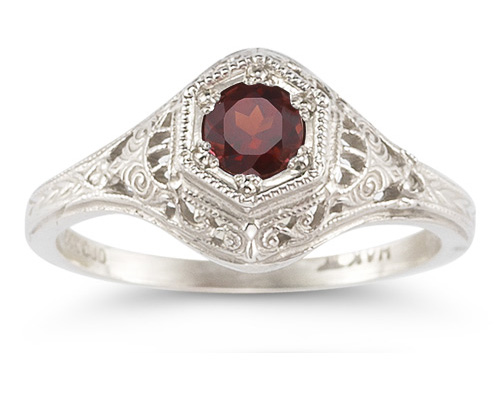 Enchanted Ruby Ring in .925 Sterling Silver