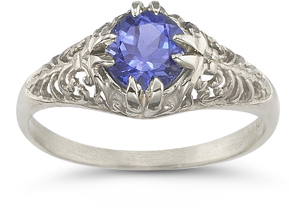 Mythical Tanzanite Ring in 14K White Gold