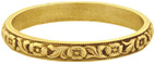 Devotion Vintage Flower Wedding Band in 14K Gold, Circa 1800s