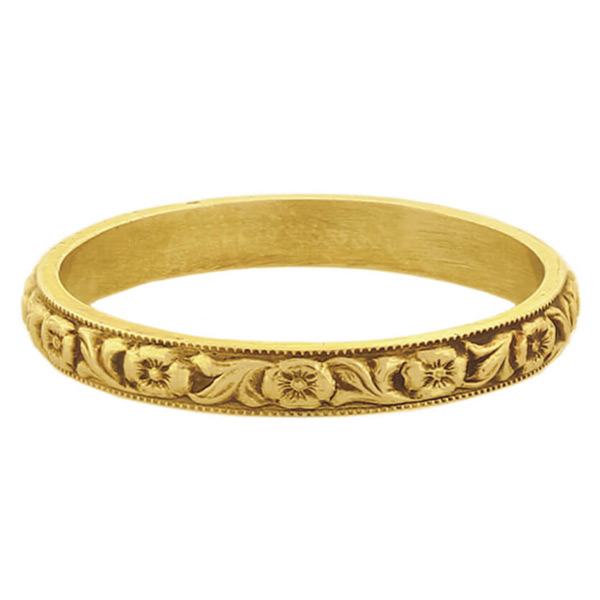Devotion Vintage Flower Wedding Band (c. 1800s)
