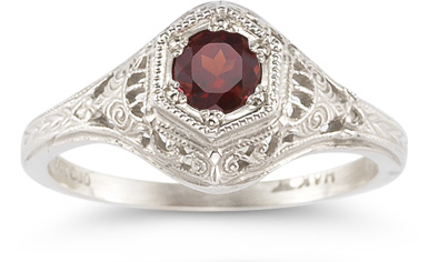 Enchanted Ruby Ring in 14K White Gold
