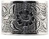 Wide 14mm Vintage Flower Engraved Band in Sterling Silver