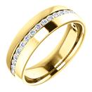 0.33 Carat Channel-Set Diamond Wedding Band Ring, 14K Gold