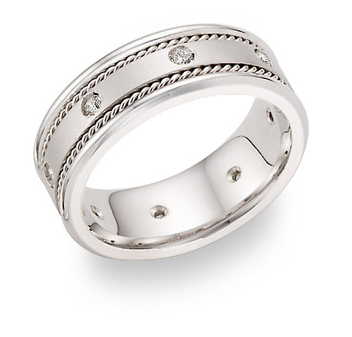 Diamond Wedding Bands for Him