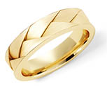 14K Gold Deeply Braided Wedding Band Ring