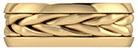 14K Gold Braided Handmade Wedding Band for Men or Women