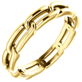14K Gold Women's Link Design Wedding Band Ring