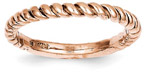 14K Rose Gold Twist Band