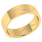 14K Solid Gold Two-Halves One Flesh Wedding Band Ring