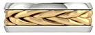 14K Two-Tone Gold Hand-Braided Wedding Band Ring