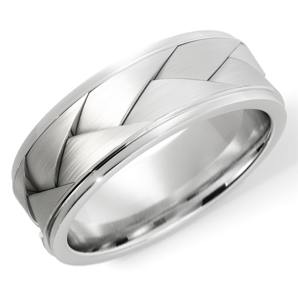 14K White Gold The Two As One Wedding Band Ring