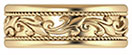 18K Gold Paisley Wedding Band Ring for Men or Women